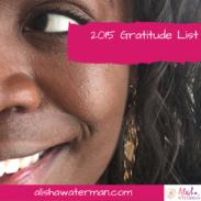 2015 Gratitude List